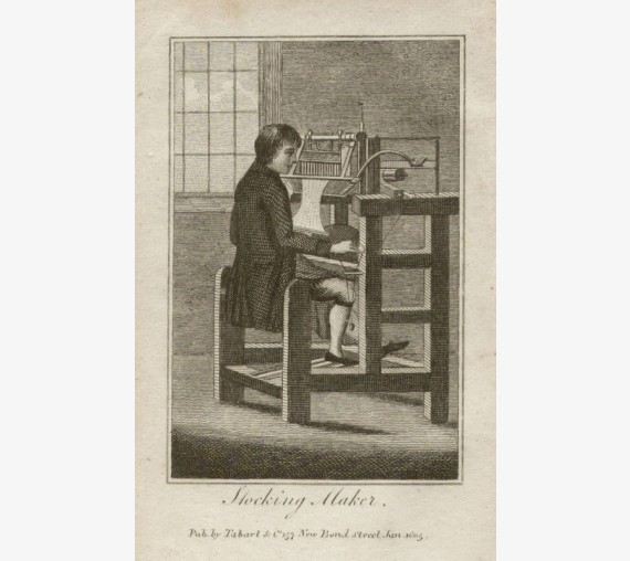 stocking maker tabart georgian fashion trade engraving