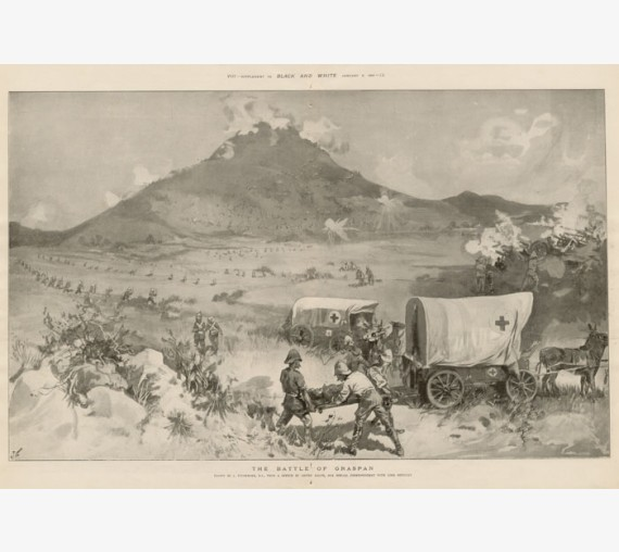 Boer War Battle Graspan photogravure 1900