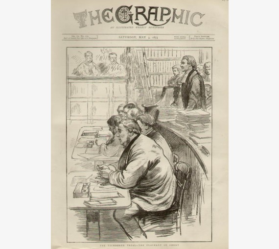 Tichborne Trial Claimant Court engraving Graphic 1873