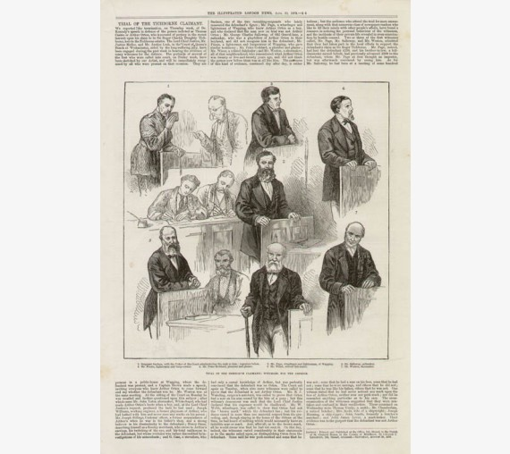 Trial Tichborne Claimant Witnesses Defence engraving Graphic 1873
