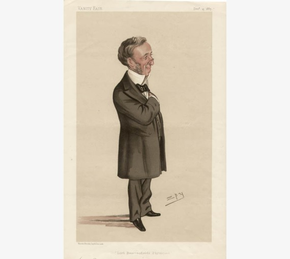 Vanity Fair Doctor Medical Spy chromolithograph Lord Beaconsfields Physician