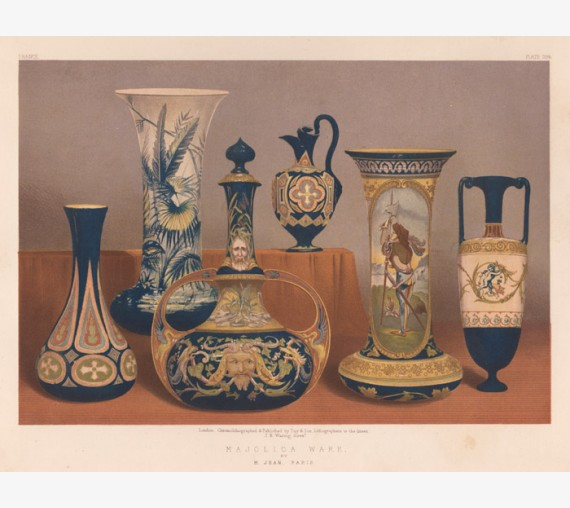 Majolica Ware waring exhibition chromolithograph