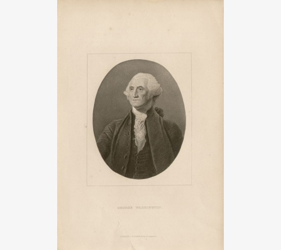 George Washington portrait engraving print American