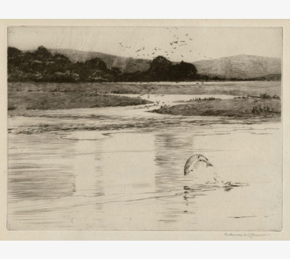 Spey Pool signed angling etching Norman Wilkinson fishing
