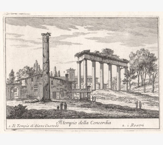 Temple of Concord engraving Philotee Francois Duflos Rome