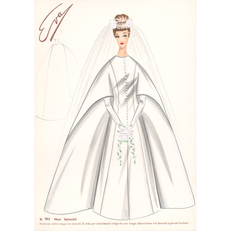 Italian Wedding Dress 1960s Fashion Design White: Fashion Sketches Italian Wedding Dresses At Websimilar.org