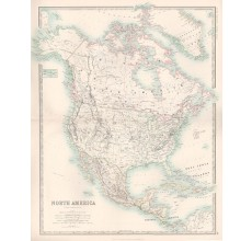 johnston north america united states antique map