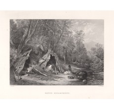 Native Encampment engraving John Skinner Prout 1874