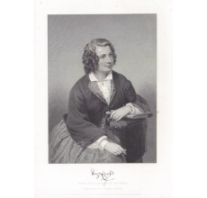 Eliza Cook author portrait engraving print