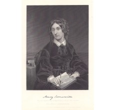 Mary Somerville portrait engraving print scientist