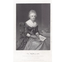 Martha Washington portrait engraving print
