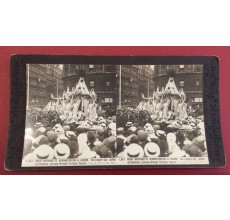 Great Suffragette Demonstration London Empire Car Stereoview