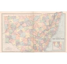general map of new south wales antique