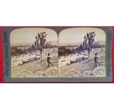 Baalbek temple stereoview photograph underwood lebanon