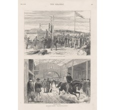 Melbourne Scratching System Horse Bazaar engraving Graphic 1880