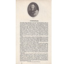 Corneille French tragedian portrait engraving print