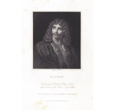 Moliere portrait engraving playwright actor