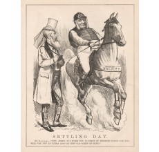 Settling Day engraving Tom Carrington 1877 Melbourne Punch