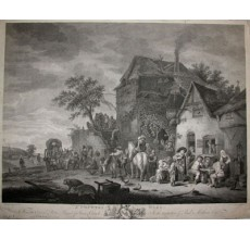 Country Wake engraving Canot Isaac Ostade