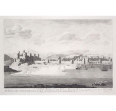 Conway Castle Wales John Boydell antique engraving