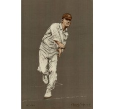 Walter Lees Empire Cricketers antique lithograph Chevallier Tayler 1905 print