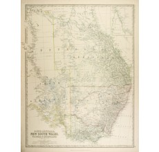 eastern australia johnston antique map