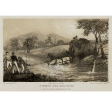 Fording the Bell River lithograph Walton Mundy 1852