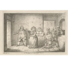 James Gillray etching Old Maid on a Journey