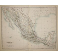 johnston mexico america antique map