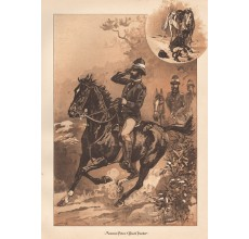 Mounted Police Black Tracker lithograph Frank Mahony