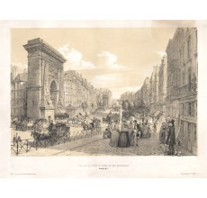 St Denis Boulevards Paris William Parrott lithograph