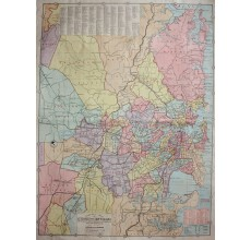 general map city sydney and environs antique map