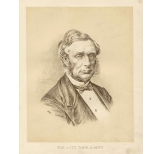 Thomas Mort lithograph portrait