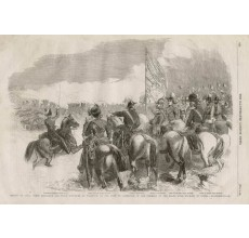 Review Royal Horse Artillery Field Batteries Woolwich engraving