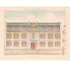 pensionnat french architectural chromolithograph