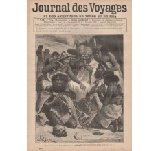 Journal des Voyages Aborigines eating bones