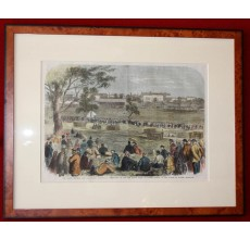 England New South Wales Domain Sydney cricket engraving