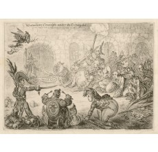 James Gillray Westminster Conscripts caricature etching