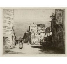 Cairo signed etching Mortimer Menpes