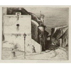 up country village Mexico Mortimer Menpes etching