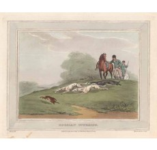 russian coursing antique print