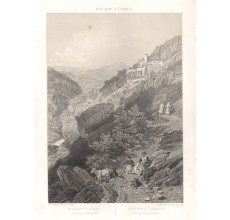 Monastery St Benedetto Subiaco lithograph rome