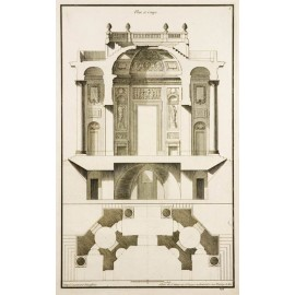 French architectural design antique engraving print neufforge