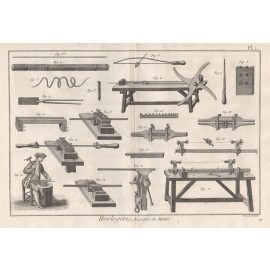 horlogerie clock horology making watch diderot encyclopedie engraving