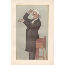 Vanity Fair August Manns portrait conductor lithograph