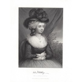 Frances Fanny Burney portrait engraving print