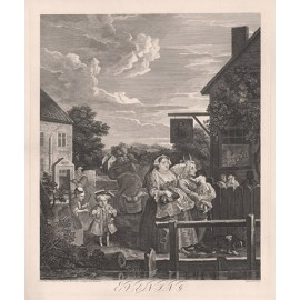 Times of the Day Evening William Hogarth