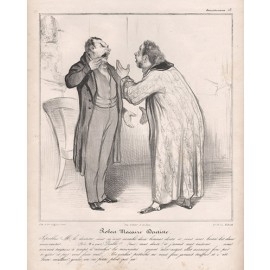 Robert Macaire Dentiste Daumier lithograph dentist Philipon