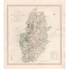 map county nottingham divided hundreds antique smith