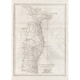 coromandel antique map india bowen